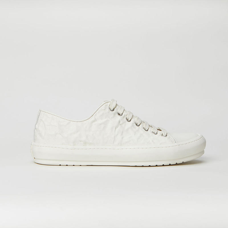 BOTH PARIS Crinkled Rubber Low-top WHITE