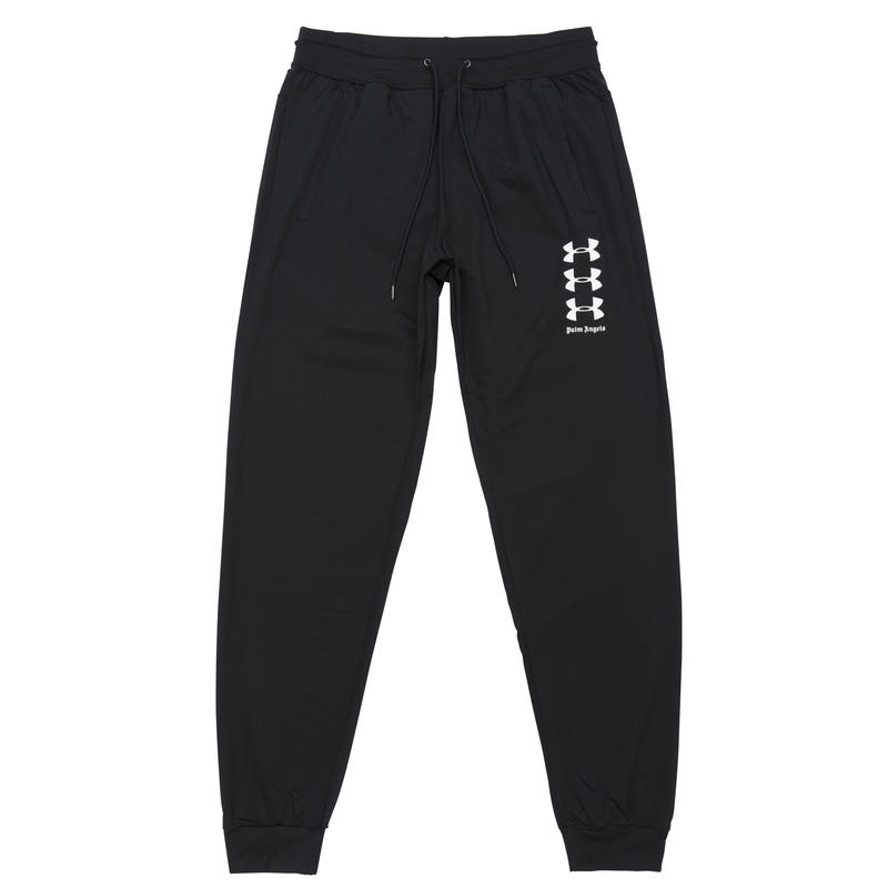 PALM  ANGELS  × UNDER ARMOUR LOOSE JOGGING PANTS BLACK