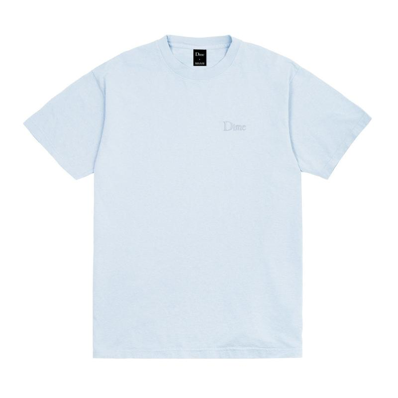 DIME  CLASSIC EMBROIDERED T-SHIRTS LIGHT BLUE