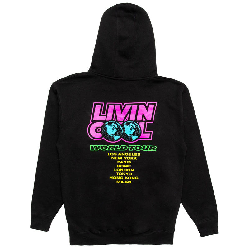 LIVINCOOL WORLD TOUR HOODIE BLACK