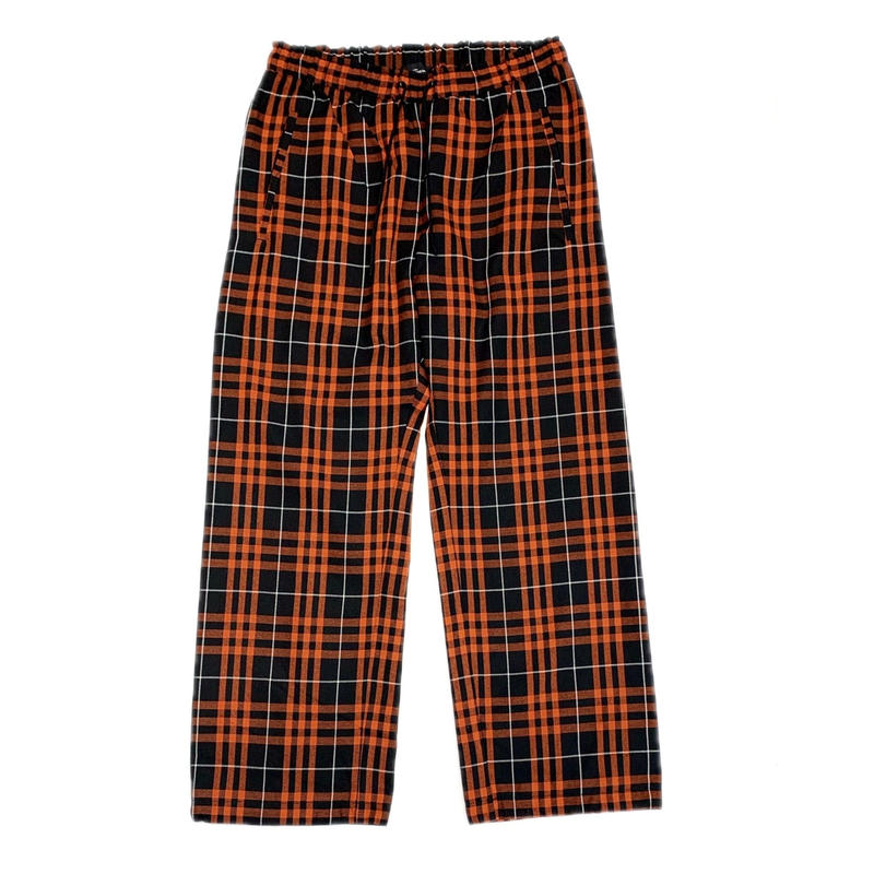 HUMAN RESISTANCE TARTAN TROUSER PANTS RED / BLACK