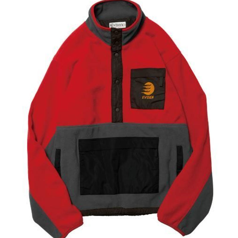 EVISEN SKATEBOARDS BUSHI FLEECE JACKET RED