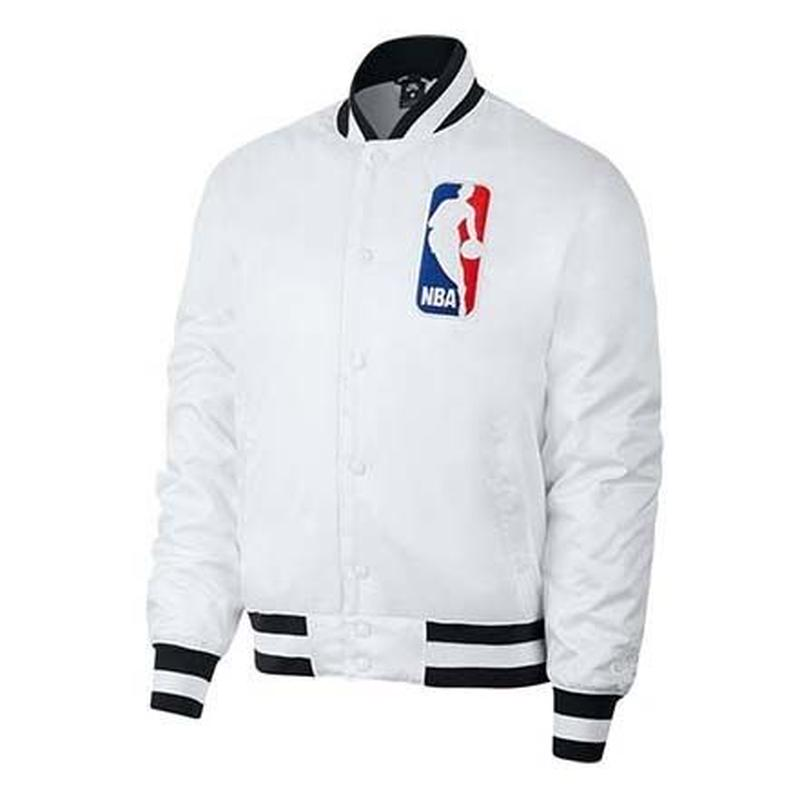 NIKE SB × NBA BOMBER JACKET WHITE