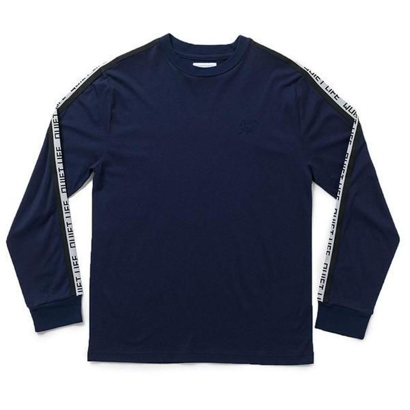THE QUIET LIFE RACING STRPIPE LONG SLEEVE NAVY