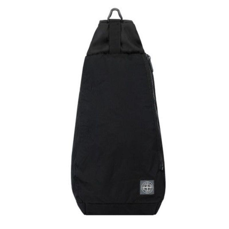 STONE ISLAND SLING BACK PACK BLACK