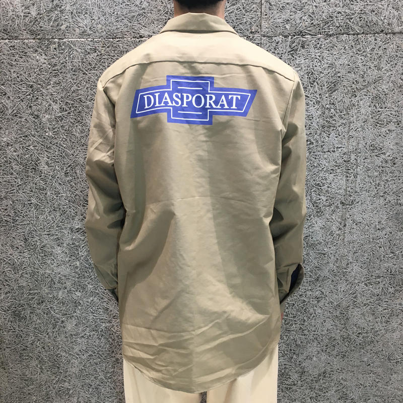 DIASPORA SKATEBOARDS  CHEVY LS WORK SHIRT KHAKI