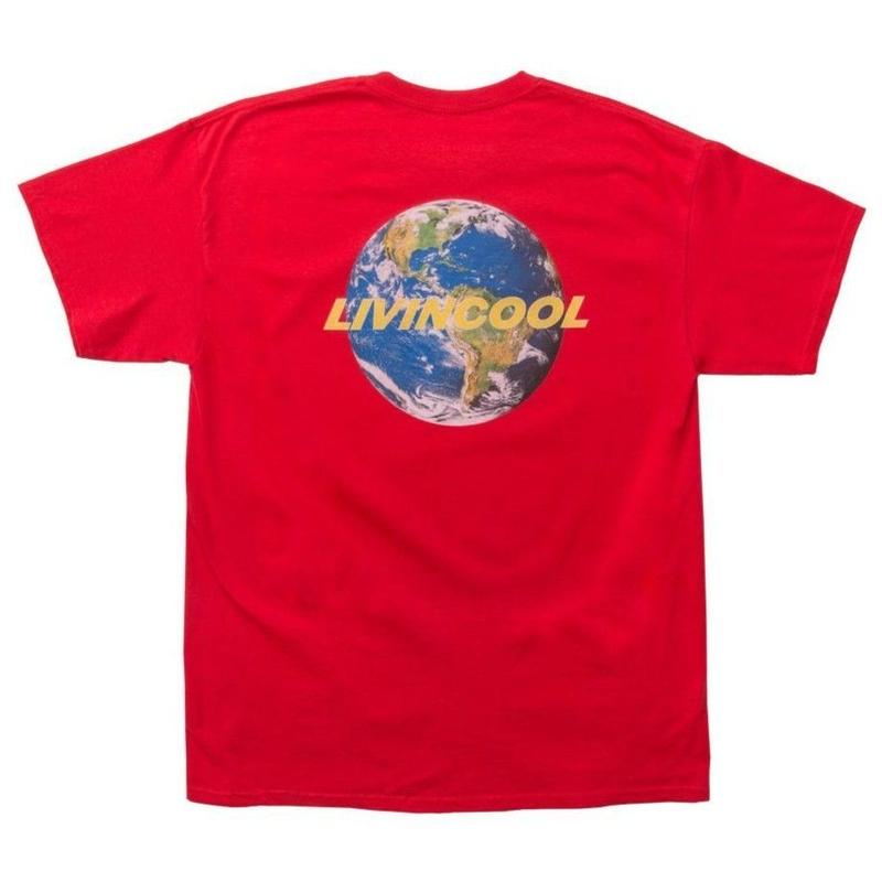 LIVINCOOL WORLD LOGO RED T-SHIRT