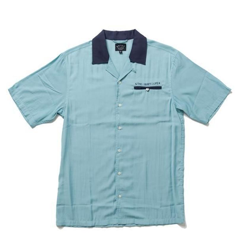 THE QUIET LIFE BOWLING SHIRT BLUE