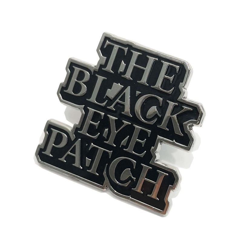BLACK EYE PATCH   LOGO  PINS    SILVER