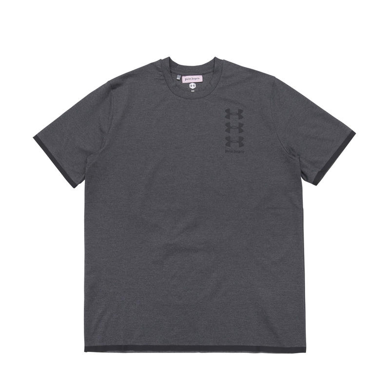 PALM  ANGELS  × UNDER ARMOUR BASIC TEE GREY