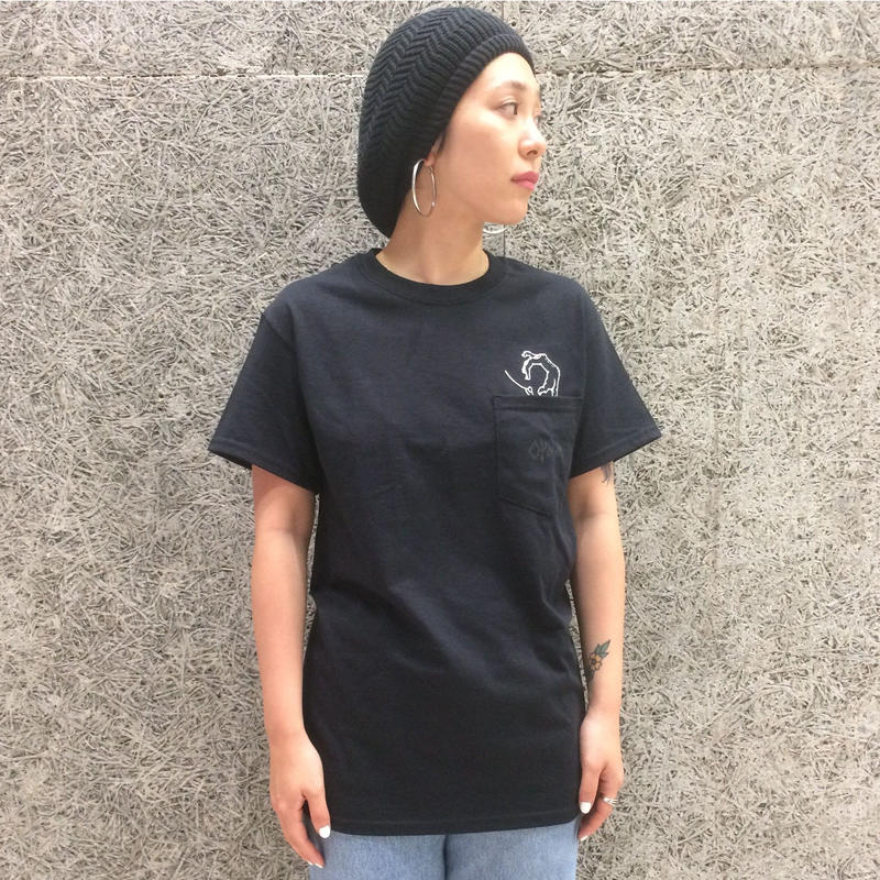 OPMM HAND  POCKET  TSHIRTS BLACK