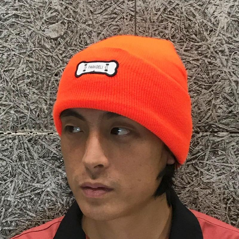 PARK DELICATESSEN BONE KNIT CAP ORANGE