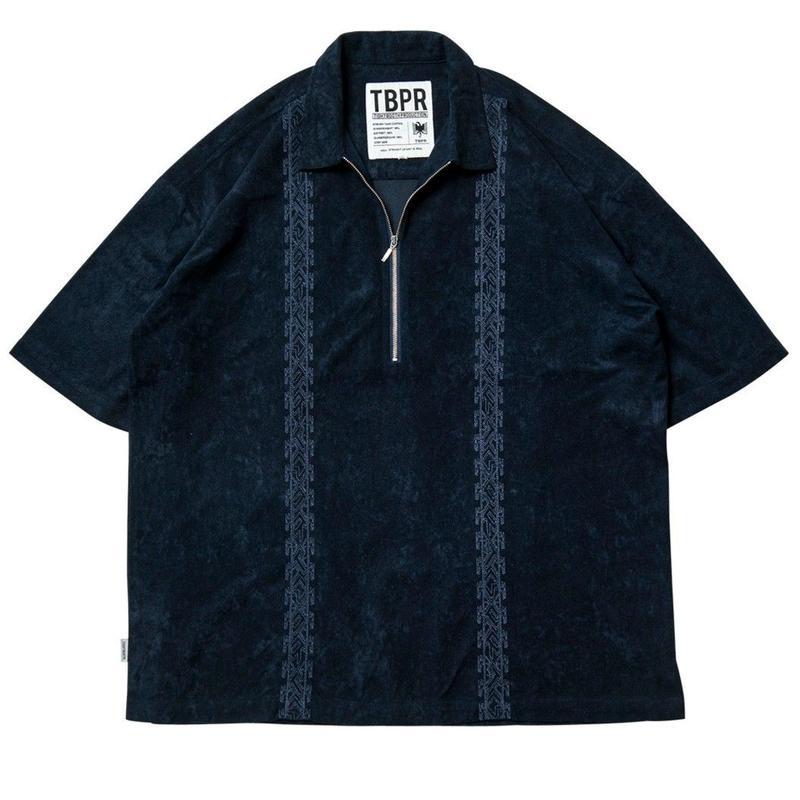 TIGHTBOOTH PRODUCTION ENCORE HALF ZIP SHIRT NAVY