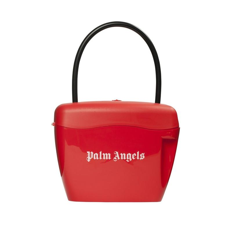 PALM  ANGELS  PADLOCK BAG RED