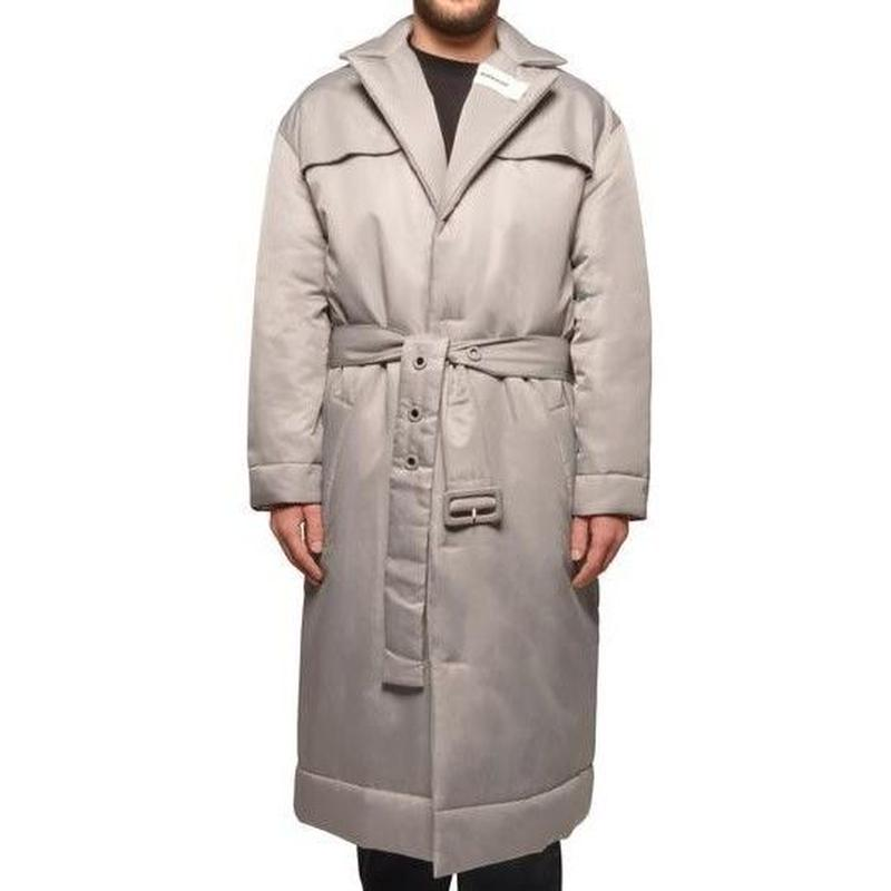 032C COSMIC WORKSHOP PUFFERED OVERSIZE COAT SILVER