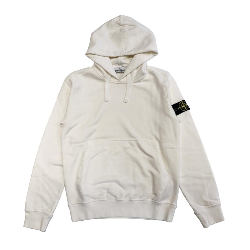 STONE ISLAND PULLOVER HOODIE WHITE 62820