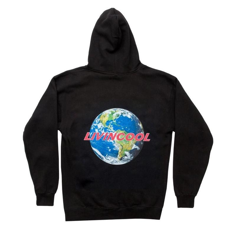 LIVINCOOL WORLD BLACK HOODIE