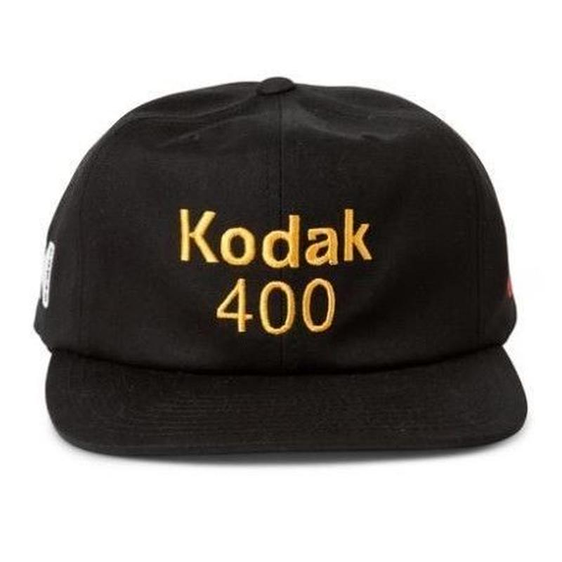 GIRL SKATEBOARDS X KODAK 400 6 PANEL HAT BLACK