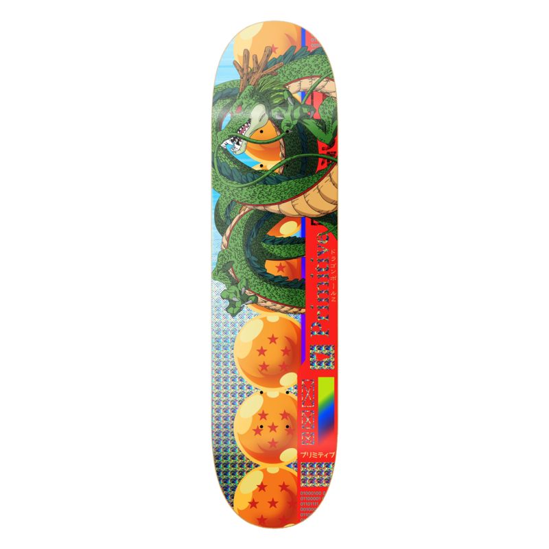 PRIMITIVE SKATEBOARDING SHENRON TEAM DECK 7.875
