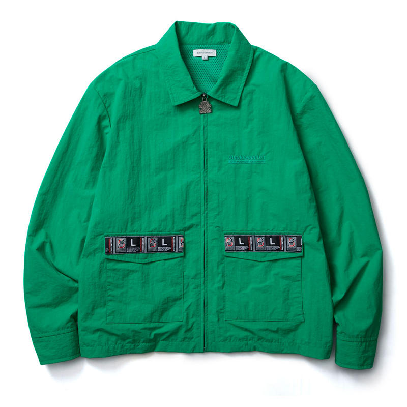 BLACK EYE PATCH TAPED BLOUSON GREEN