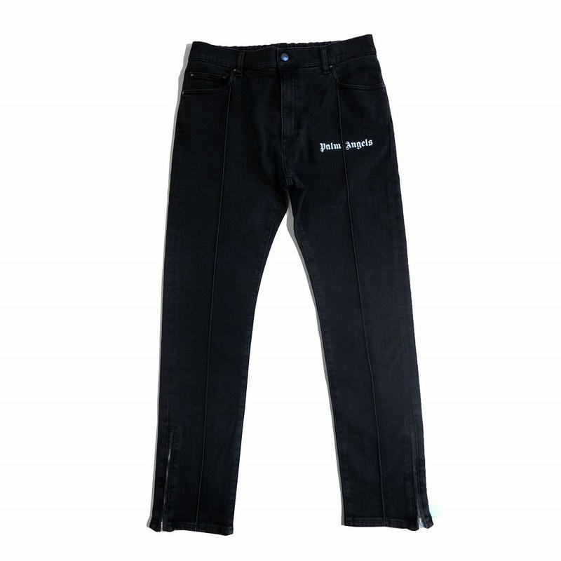 PALM  ANGELS  TRACK DENIM JEANS  BLACK