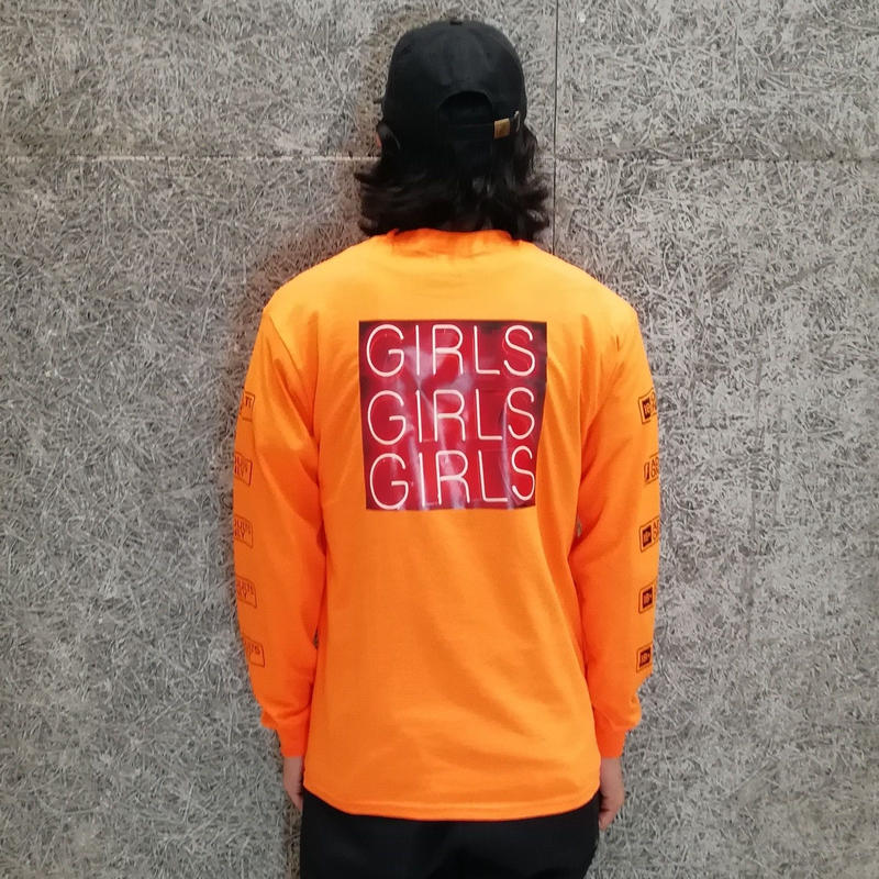 SNAKE PORNO GIRLS LS TEE ORANGE