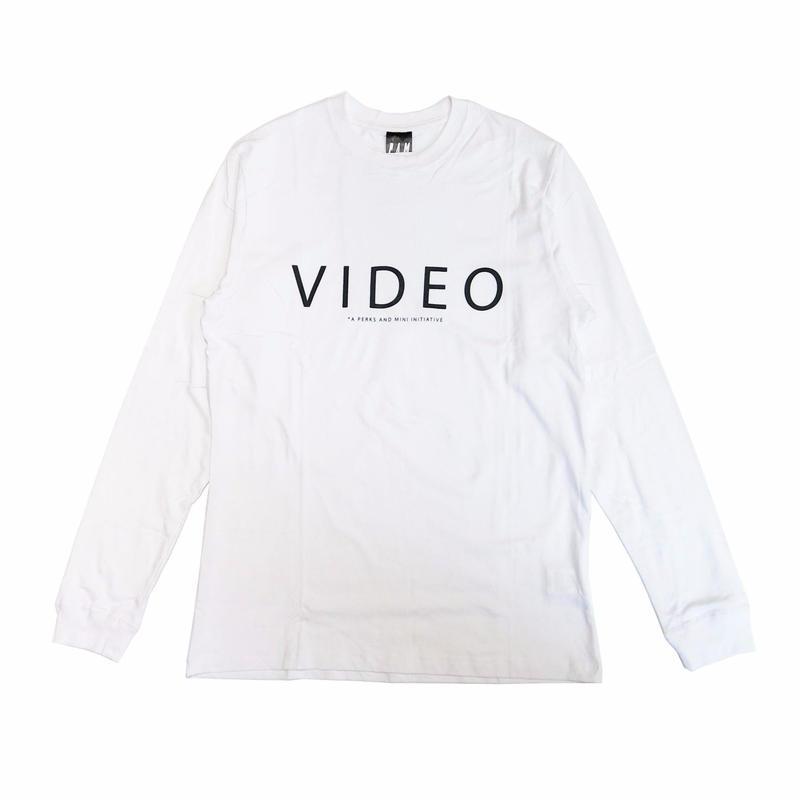 P.A.M VIDEO LONG SLEEVE T-SHIRTS WHITE