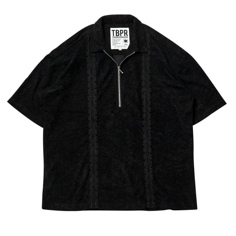 TIGHTBOOTH PRODUCTION ENCORE HALF ZIP SHIRT BLACK
