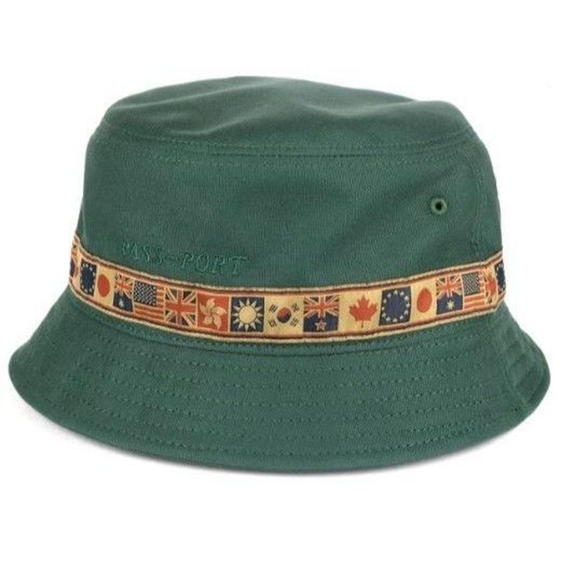 PASS~PORT INTER SOLID BUCKET HAT FOREST GREEN