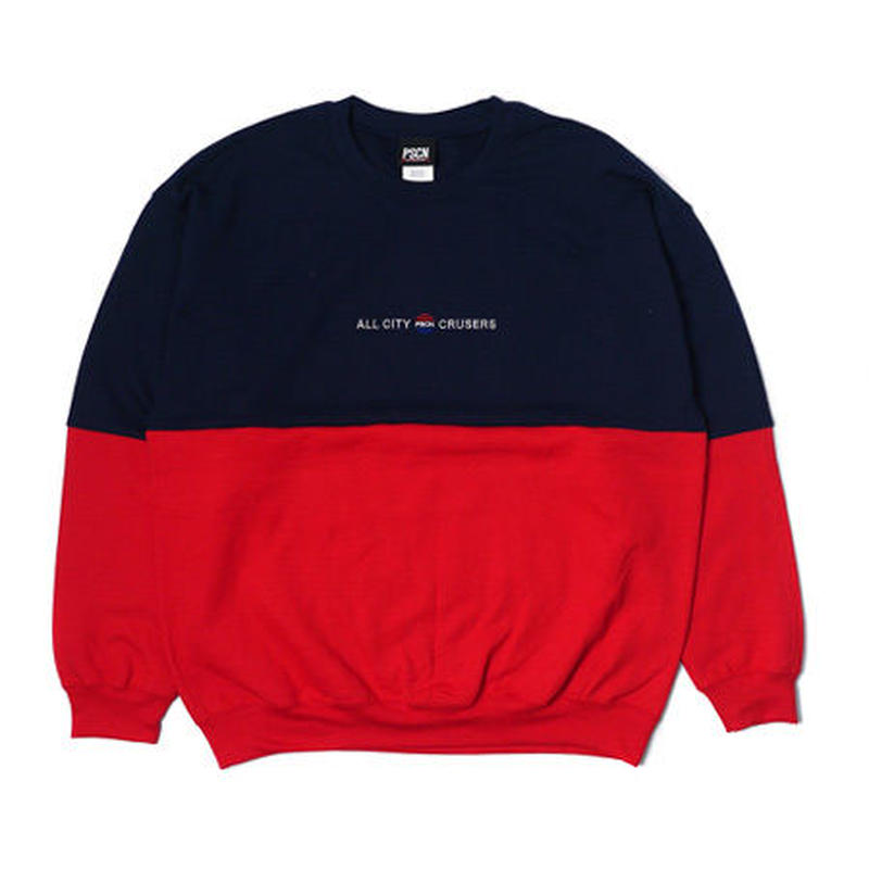 PSCN 2TONE CREW NAVY/RED