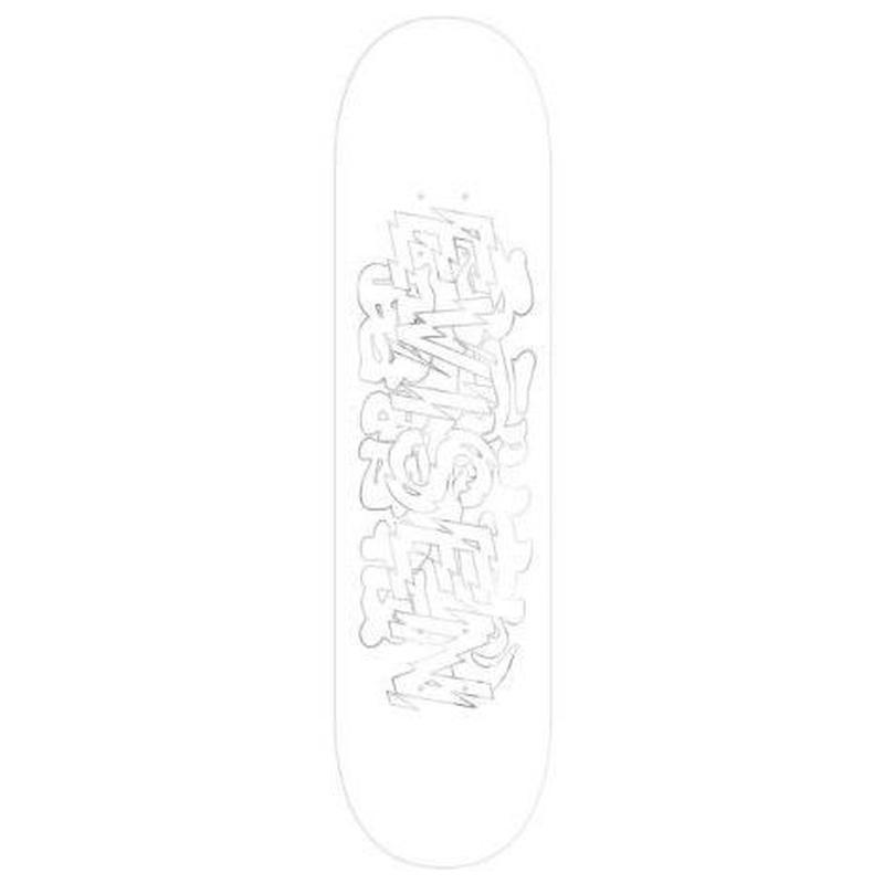 EVISEN SKATEBOARDS SANDA WHITE DECK 8.0/8.125