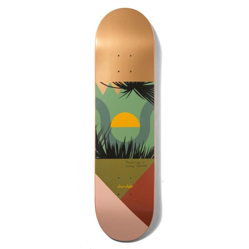 CHOCOLATE SKATEBOARDS ANDERSON TROPICAL STUDIES 8.125INCH