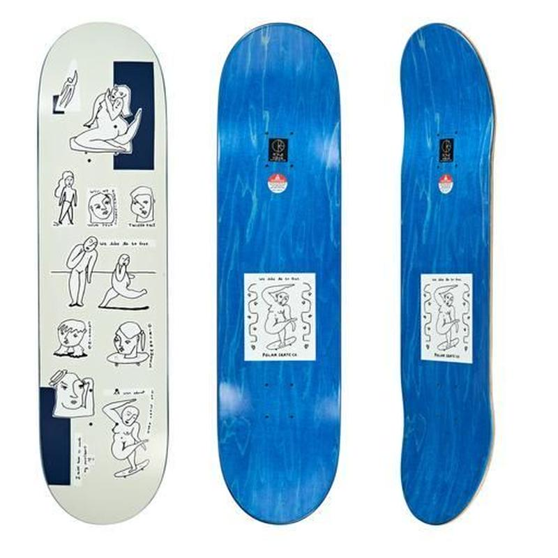 POLAR SKATE CO.  WE LIKE TO BE FREE DECK 8.125