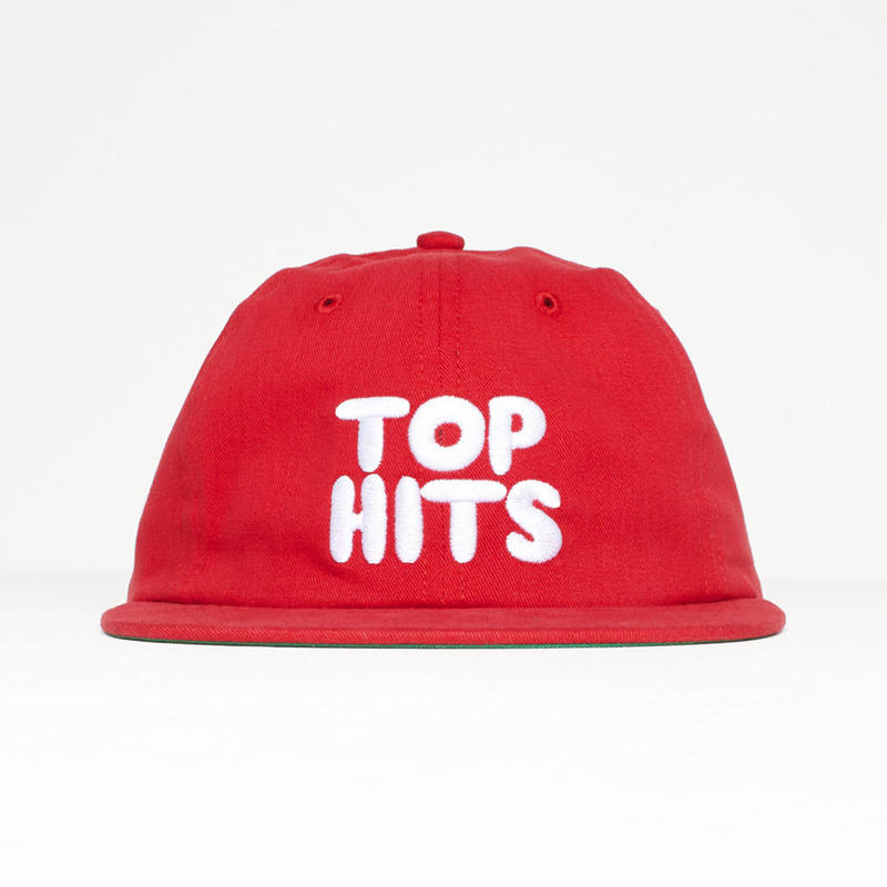 BY PARRA 6PANEL HAT TOP HITS RED