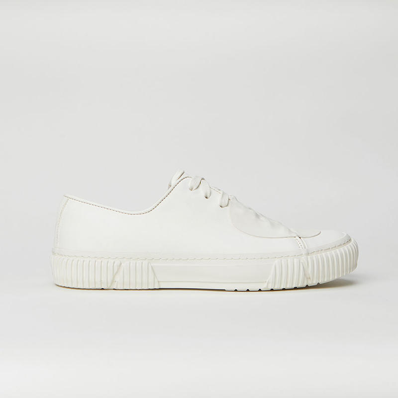BOTH PARIS Rubber Patch Low-top With Graphic Foxing  WHITE
