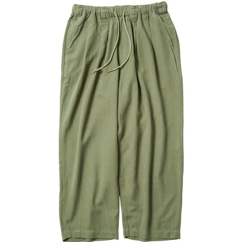 TIGHTBOOTH PRODUCTION BAGGY LINEN PANTS OLIVE