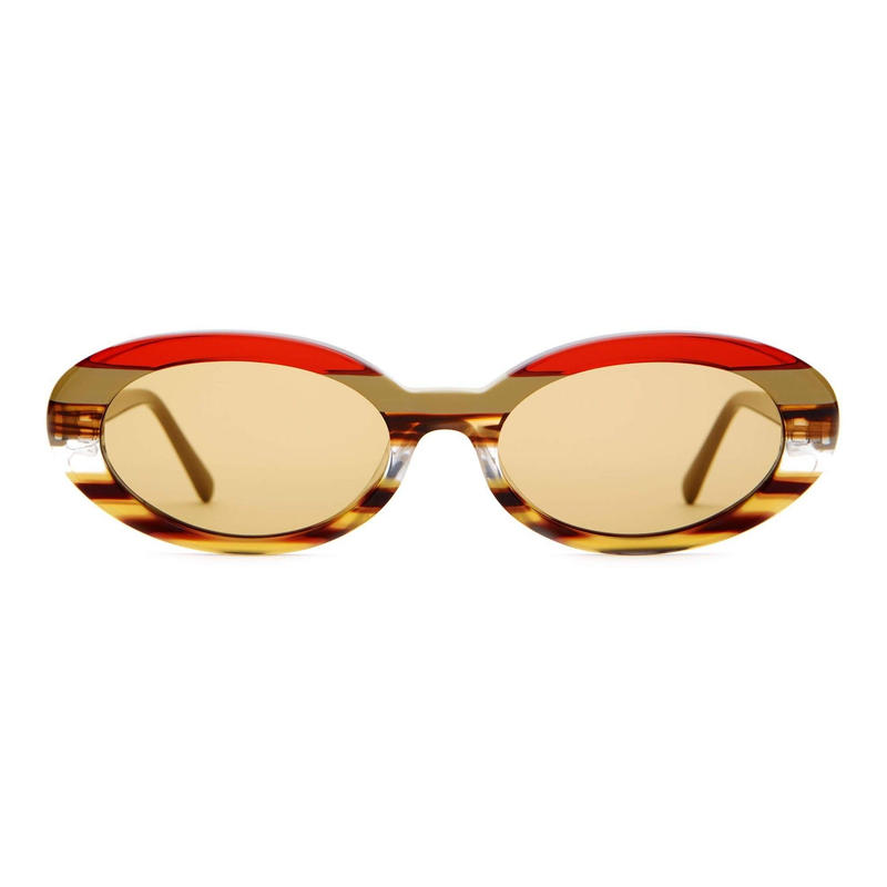 CRAP EYEWEAR THE SWEET LEAF EARTHTONE STRIPES / MUSTARD