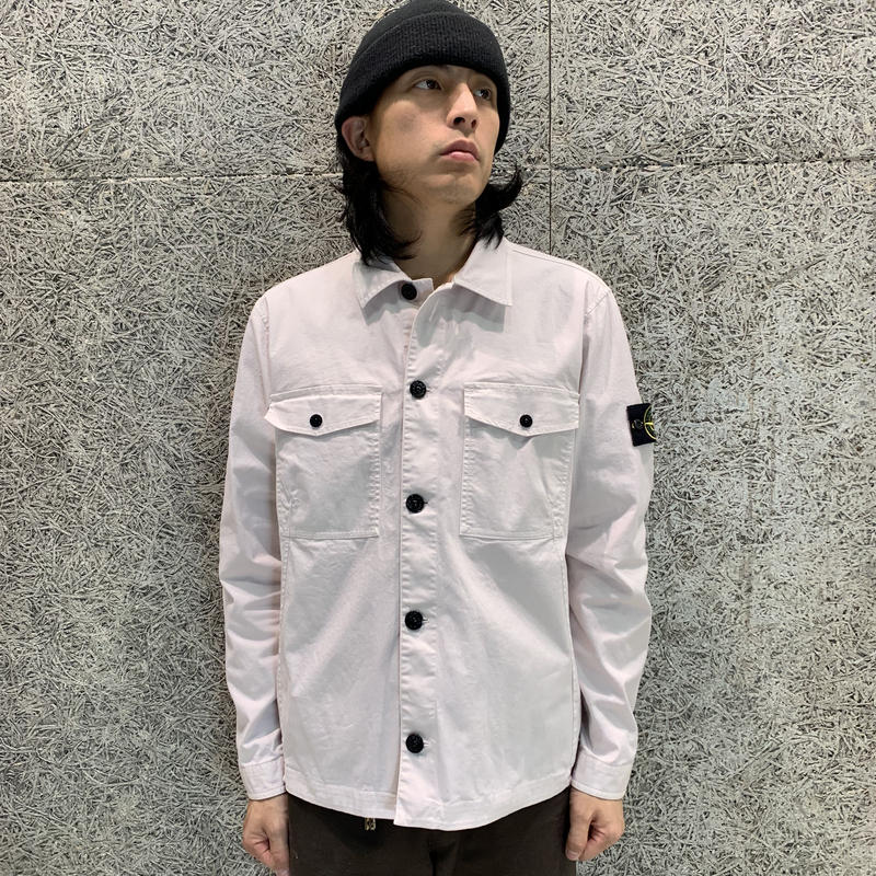 STONE ISLAND GARMENT DYED OVER SHIRT STUCCO 12002