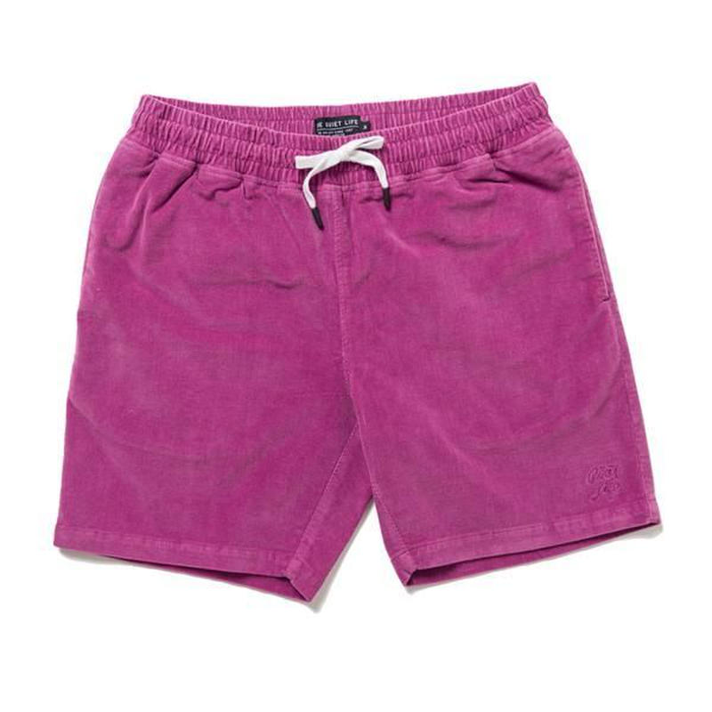 THE QUIET LIFE CODE BEACH SHORTS MAGENTA