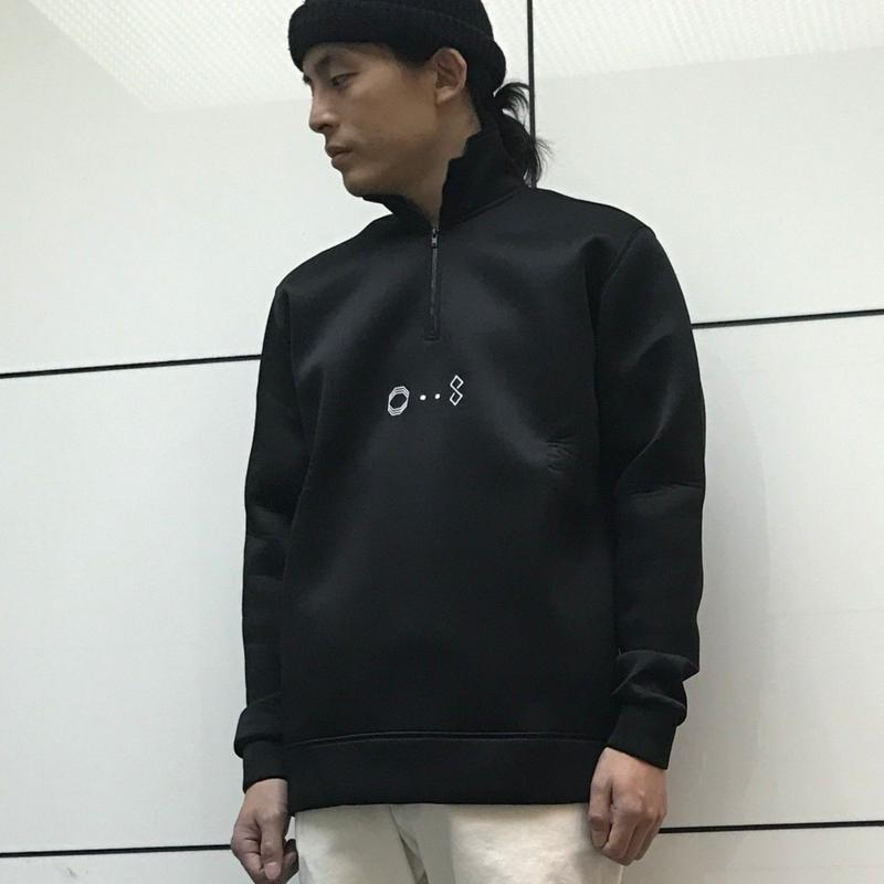 ÖCTAGON TRILOGY HALF ZIP SWEATSHIRT BLACK