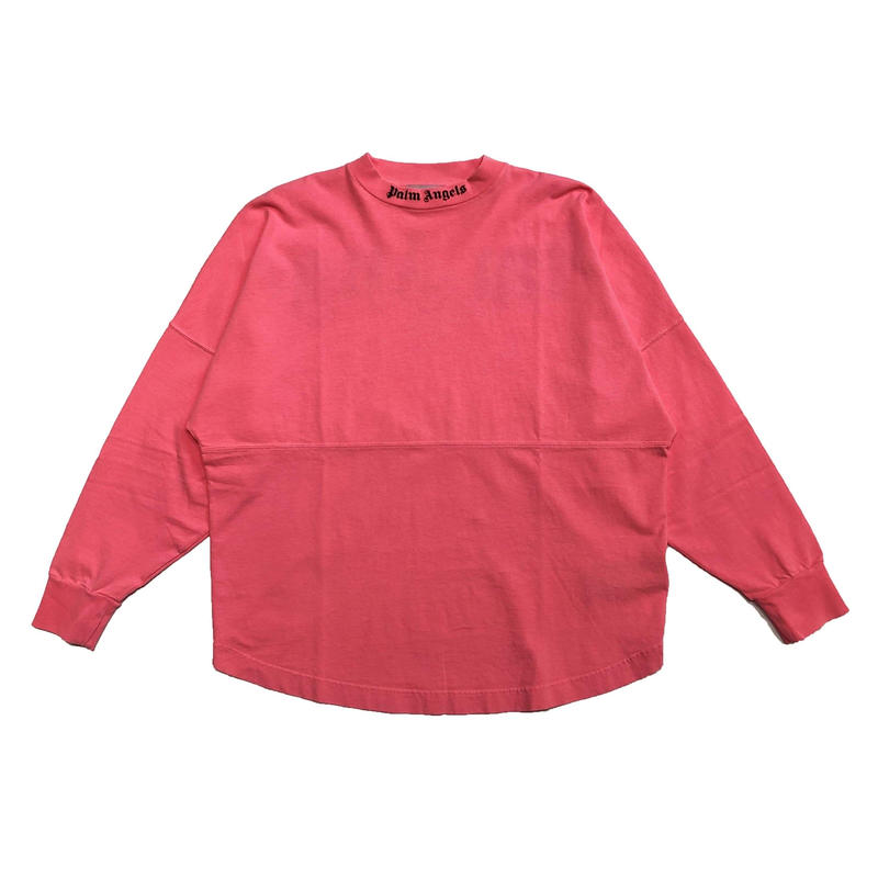 PALM  ANGELS  LOGO OVER LS  TEE PINK