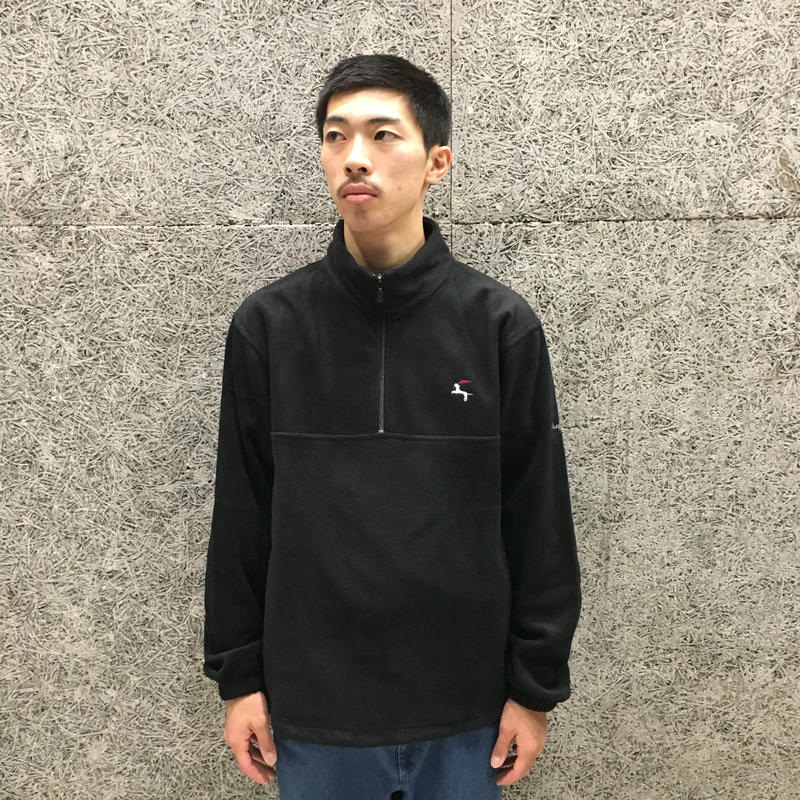 DIASPORA SKATEBOARDS DET QUATER ZIP FLEECE BLACK