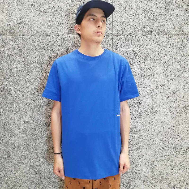 SOULLAND COFFEY T-SHIRT BLUE