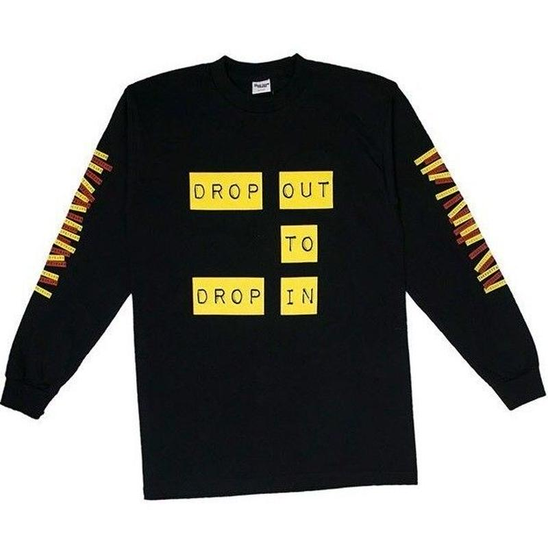 THE DUCT TAPE YEARS DROP OUT TO DROP IN LS TEE BLACK
