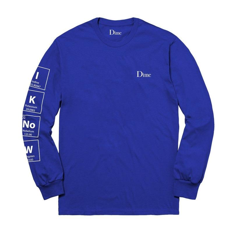 DIME KNOWING L/S T-SHIRTS BLUE