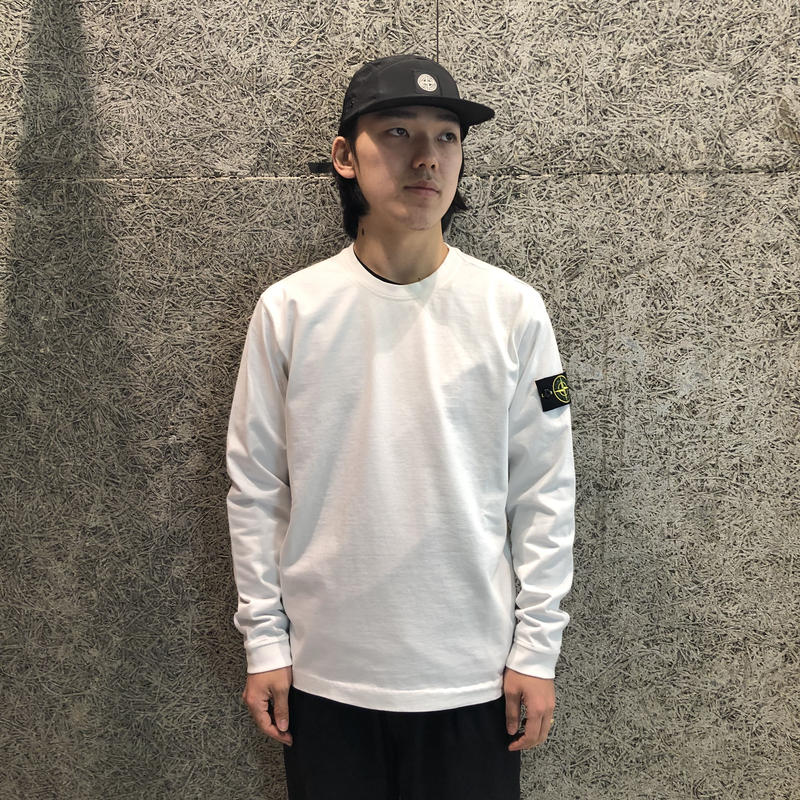 STONE ISLAND LIGHT WEIGHT SWEAT WHITE 62150
