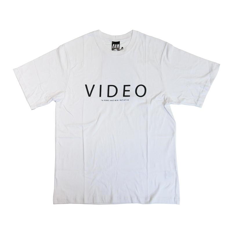 P.A.M VIDEO SHORT SLEEVE T-SHIRTS WHITE
