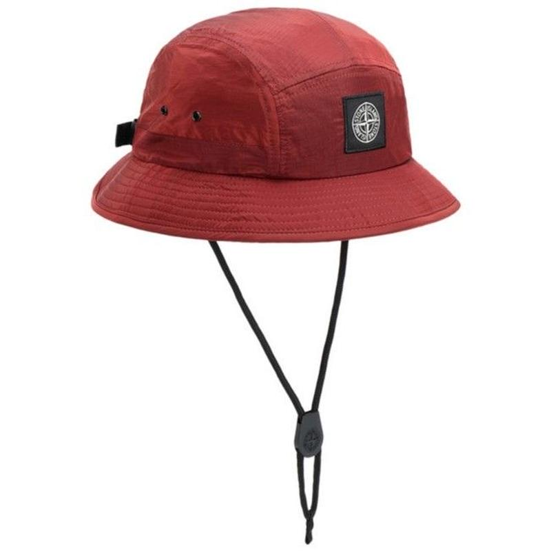 STONE ISLAND NYLON METAL RIPSTOP 5PANEL HAT BRICK