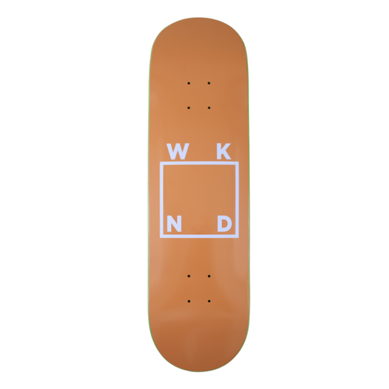 WKND SKATEBOARDS LOGO BOARD- TAN + PURPLE 8.0/8.25INCH
