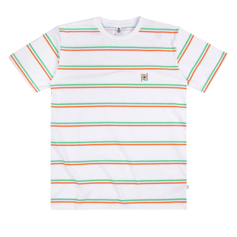 POST DETAIL STRIPED TEE WHITE